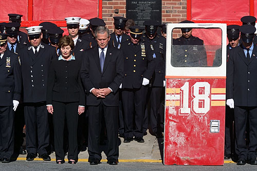 president bush 9 11. New York City, 9/11/2006.