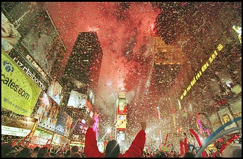 New year 2000 times square